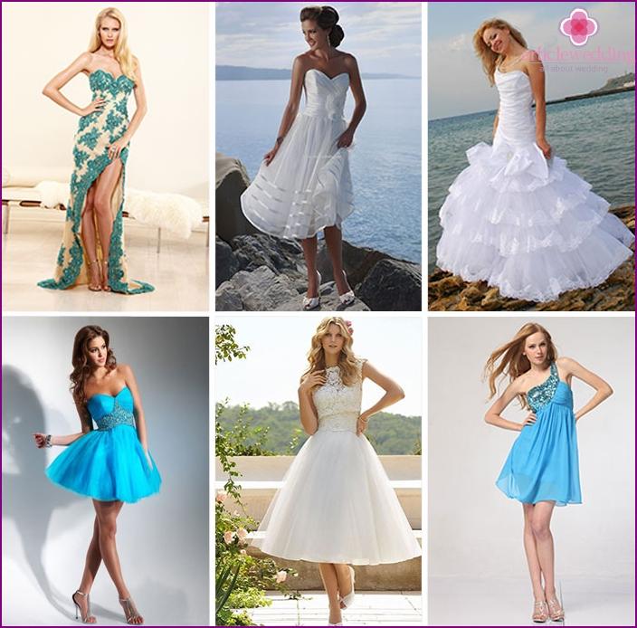 Nautical wedding dresses