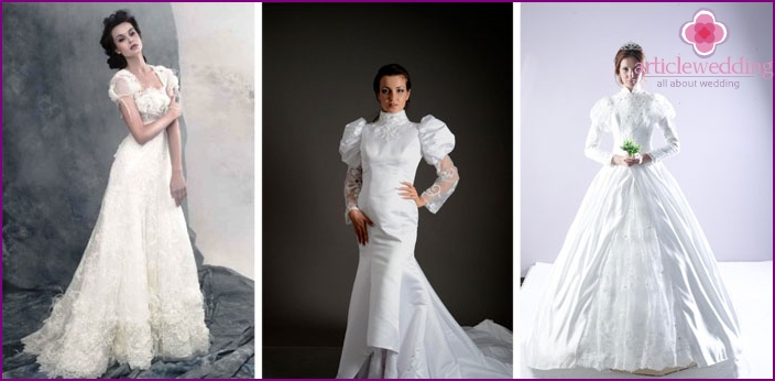 Outfits for the bride with magnificent sleeves