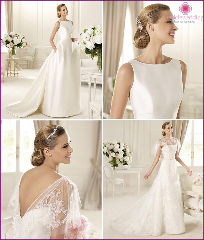 Elegante Brauttoilette mit transparenter Oberseite