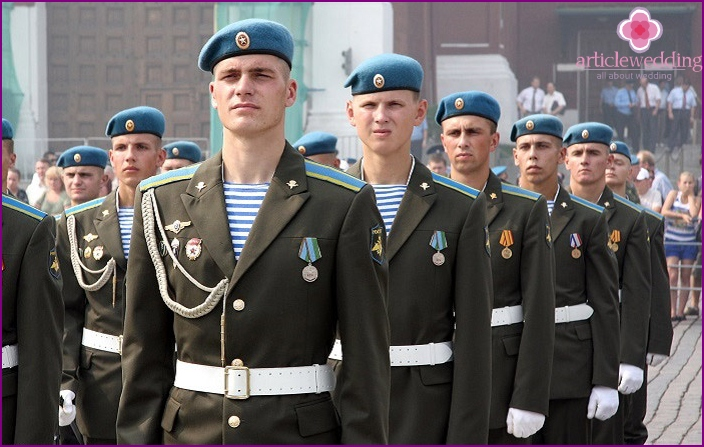 Uniform of fighters of airborne forces