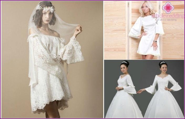 Sleeves bells and wedding attire