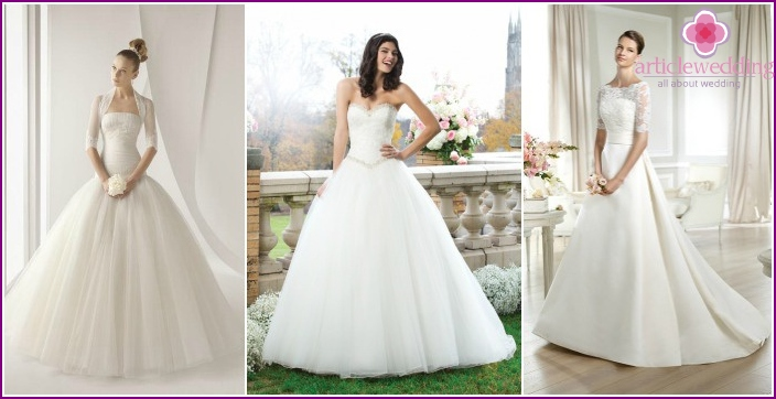 A selection of photos of lush wedding dresses on girls