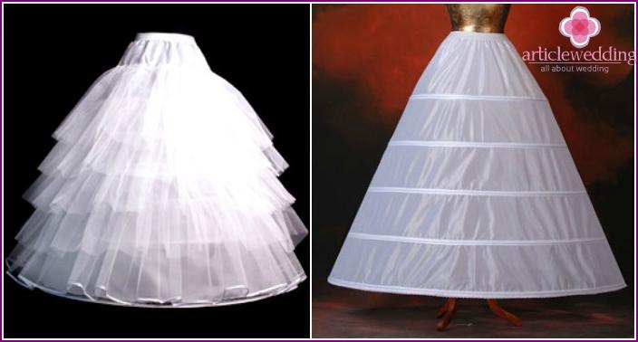Photo of voluminous elements of lush wedding dresses