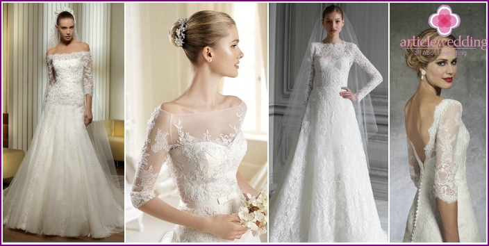 Photo of lush wedding dresses with sleeves