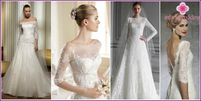 Photo of lush wedding dresses with sleeves