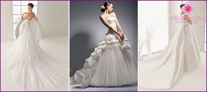 Removable hem in wedding models