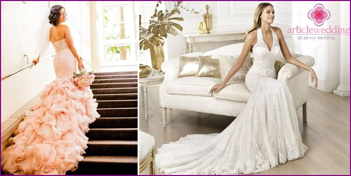 Styles of fitting wedding dresses