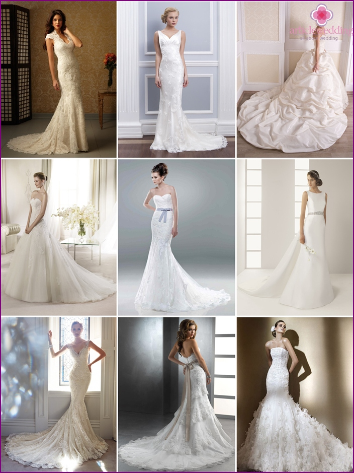 Options for wedding dresses with dragging bottom