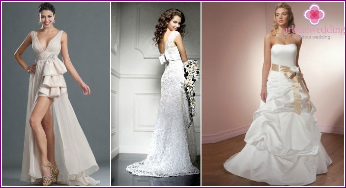 Loops for wedding dresses of different lengths