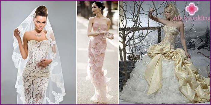 An extraordinary dress for the bride