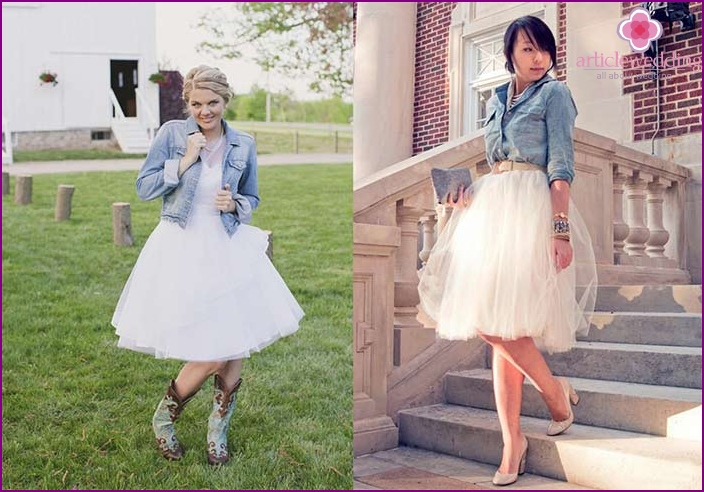 Denim wedding attire: an original solution