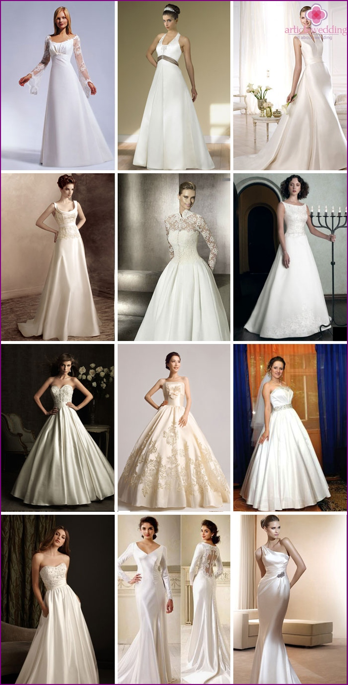 Styles of satin dresses 2016