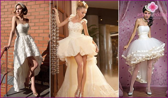 Champagne dresses for brides