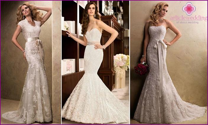 Champagne lace dresses