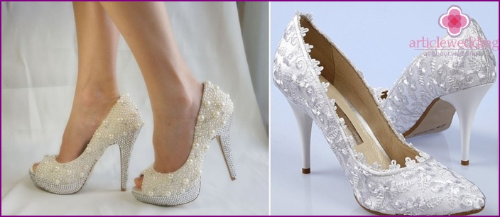 Shoes for a short wedding dress