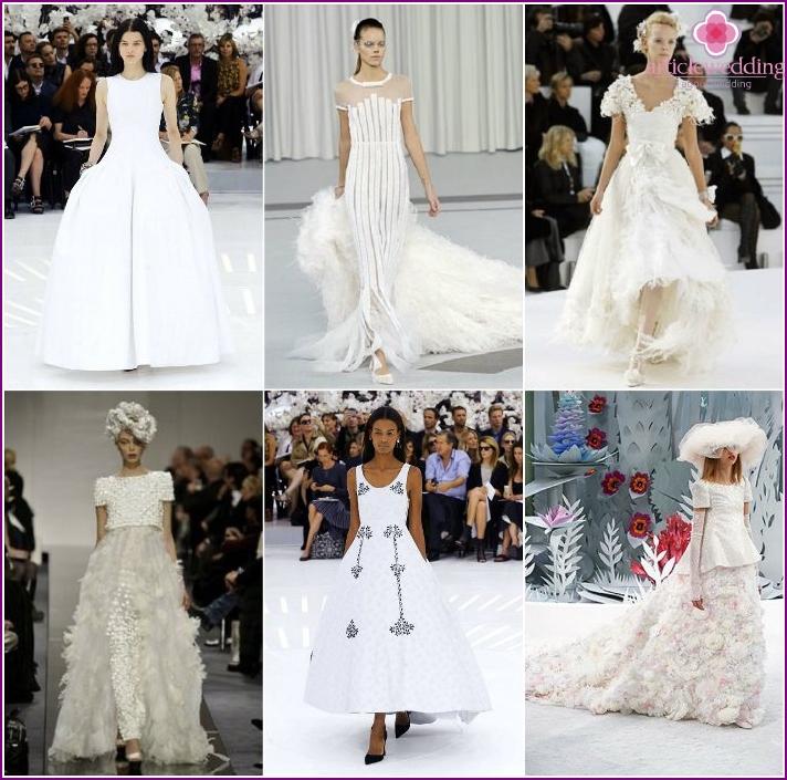 Hochzeit klassische Karl Lagerfeld Kleider