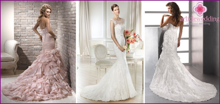 Wedding dresses with a train