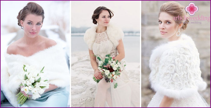 Wedding dresses with fur