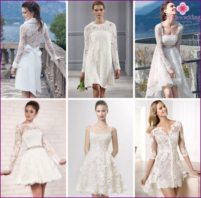 Short lace wedding dresses