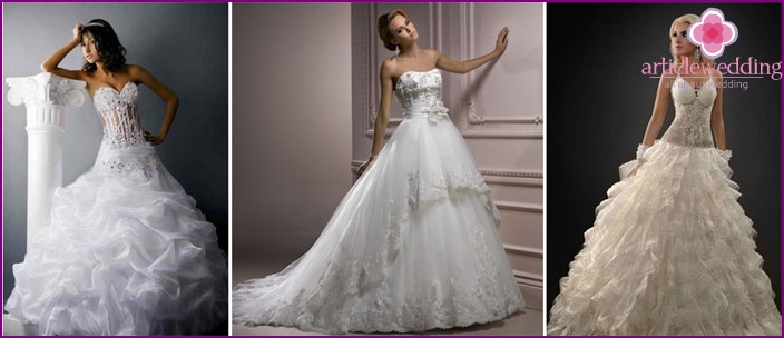 Lush wedding dresses for the bride and groom