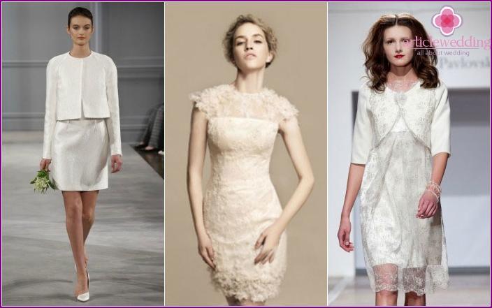 Kleider als Teil eines Hochzeitsanzugs