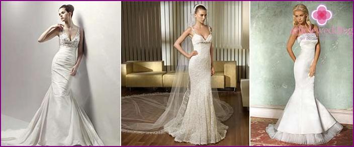 Farbe und Silhouette eines Hochzeitskleides