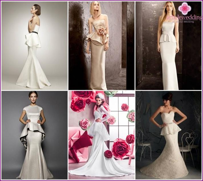 Peplum Bridesmaid Dresses