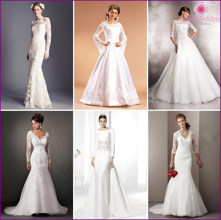 Long sleeves wedding dress