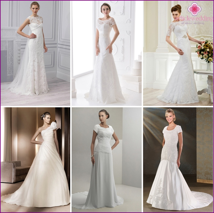 Dress for brides with closed shoulders
