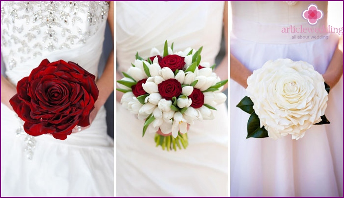 Wedding Bridal Bouquet: White or Red