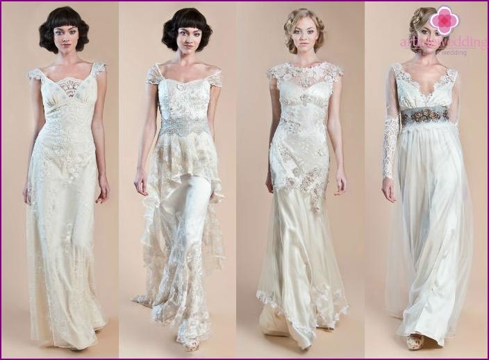 Photos of dresses from the designer Badgley Mischka