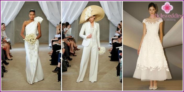 Photos of wedding dresses from Carolina Herrera