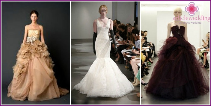 Photo of designer clothes for a wedding by Vera Wang