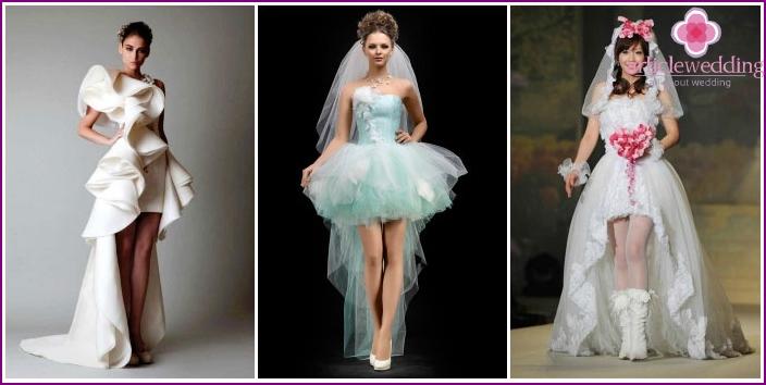 Original styles of wedding dresses