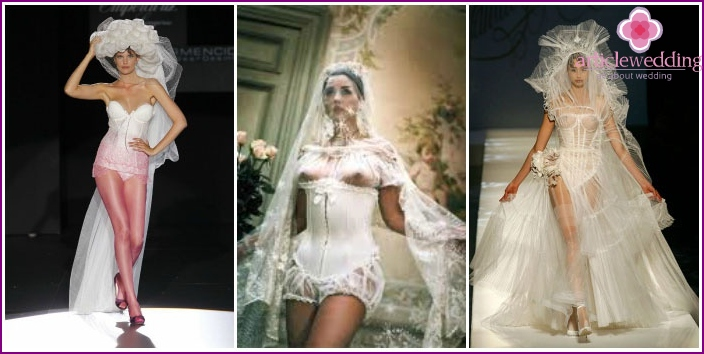 Photo erotic outfits for the wedding