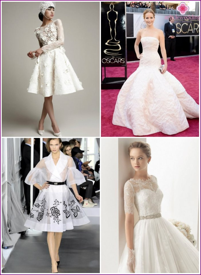 Wedding dresses from Dior