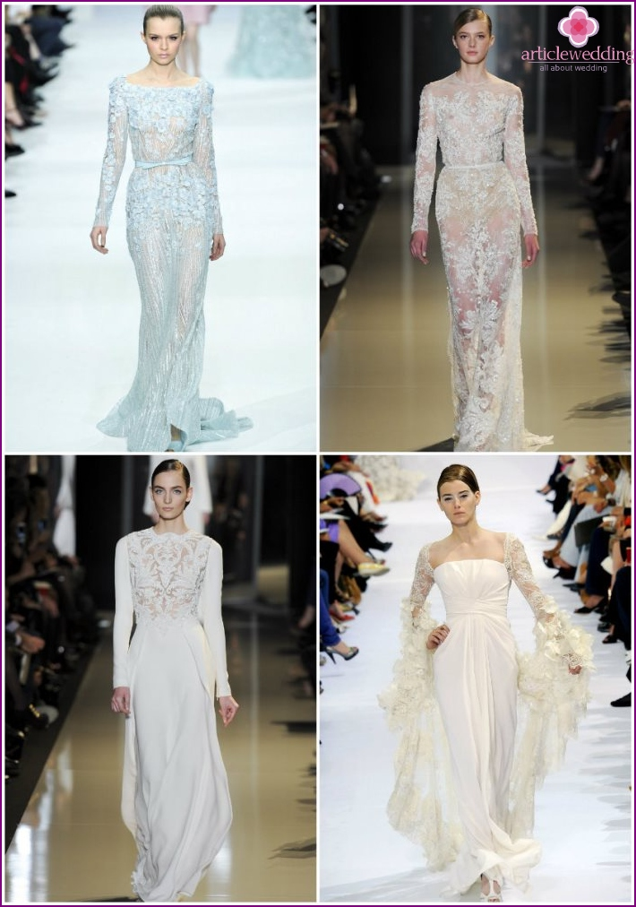 Costumes for the bride from Elie Saab
