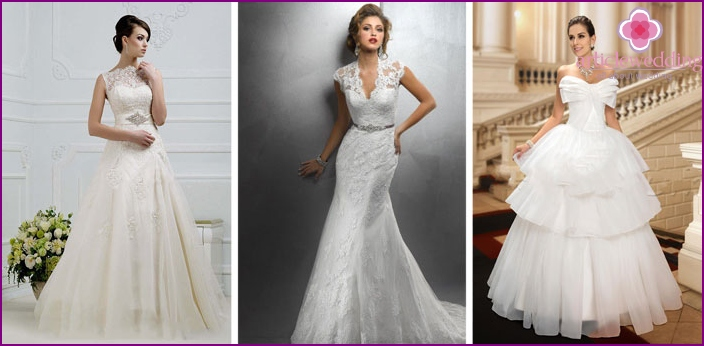 Outfits for brides with small breasts