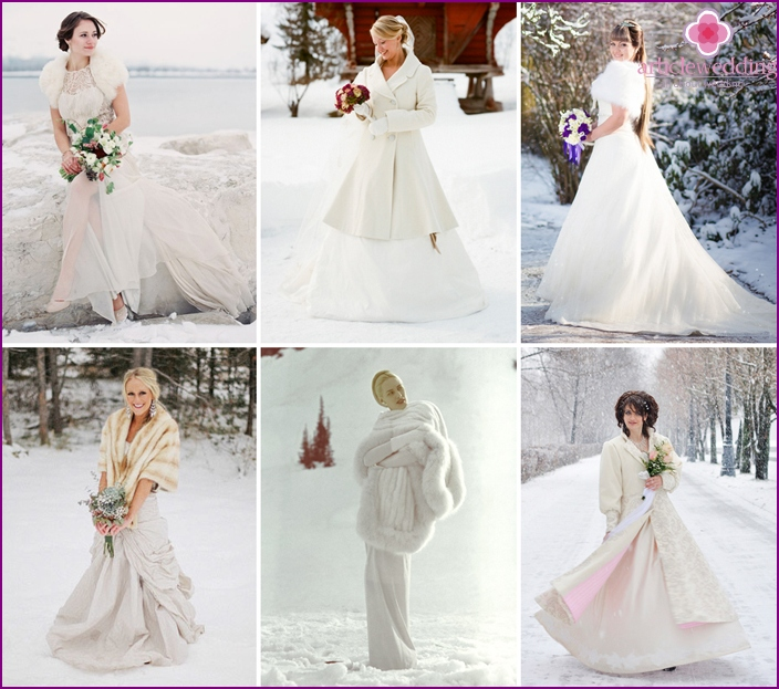 Outerwear for the winter bride