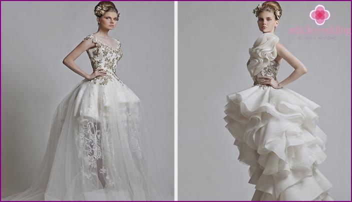 Classic dresses in white