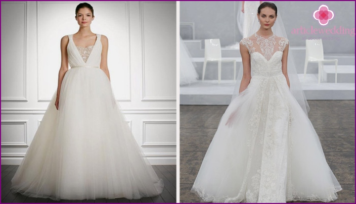 Wedding dresses by designer Carolina Herrera