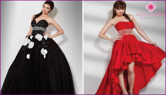Dresses of various colors