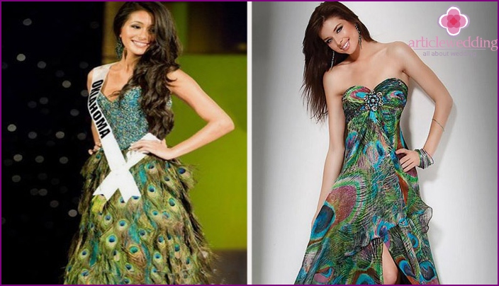 Peacock Feather Dresses