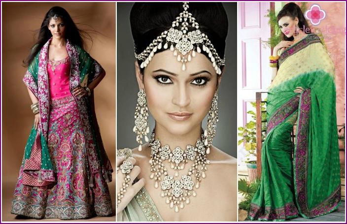 Indischer Brauthochzeitsblick
