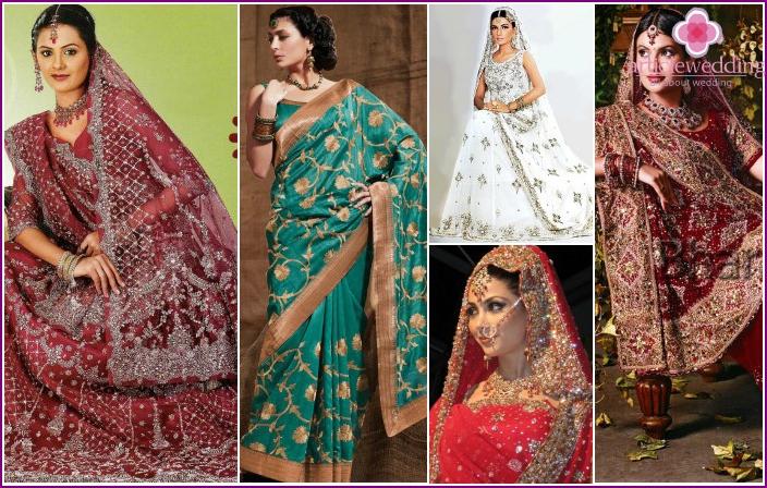 Schöne Hochzeit Saree