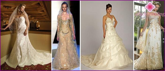Maßgeschneiderte weiße indische Brautkleider