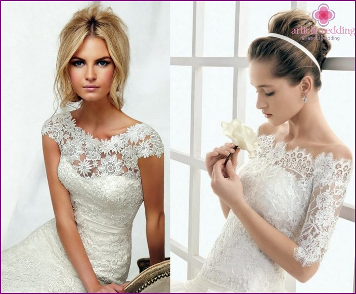 Lace for the bride and groom