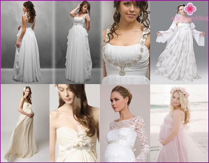 Brautkleider für Frauen in Position