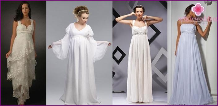 Mutterschaft Brautkleid: Griechisch