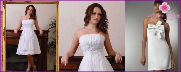 Kurze A-Linie Mutterschaft Brautkleider